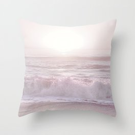 SUNSET HALFMOON BAY by MS Throw Pillow