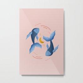 Pisces Horoscope Metal Print