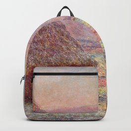 White Frost, Sunrise by Claude Monet Backpack