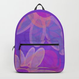 FIORI bright jumbo floral abstract in vivid pink purple blue Backpack