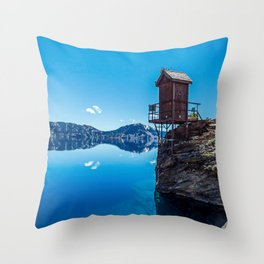 Wilderness Pooper // Crater Lake National Park Beauty of the Blue Skies and Waters Throw Pillow