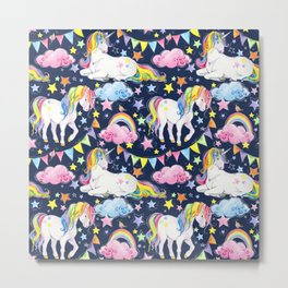Unicorn Party 1 Metal Print