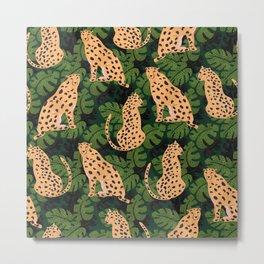 Cheetah Pattern Metal Print