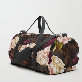 Vintage & Shabby Chic - Midnight Rose and Peony Garden Duffle Bag