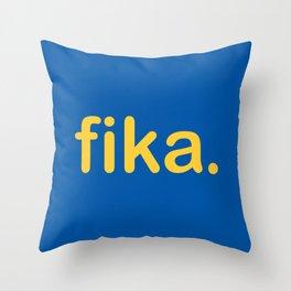 Fika Gul & Blå Throw Pillow