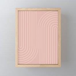 Minimal Line Curvature - Vintage Pink Framed Mini Art Print