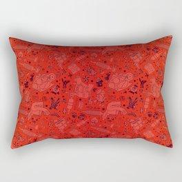 Tattoo Pattern Fire Rectangular Pillow