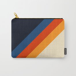 Colorful Classic Retro 70s Vintage Style Stripes - Padona Carry-All Pouch