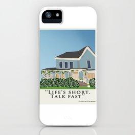 Life's short, talk fast! iPhone Case