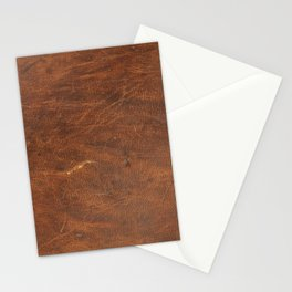 Old Tan Leather Print Texture | Cowhide Stationery Cards