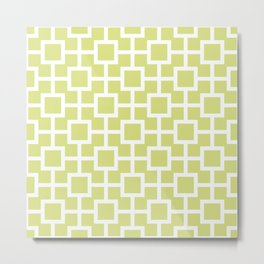 Classic Hollywood Regency Pattern 731 Chartreuse Metal Print