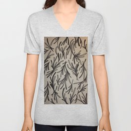 Leaf Branches Print Unisex V-Neck