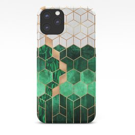 Emerald Cubes And Hexagons iPhone Case