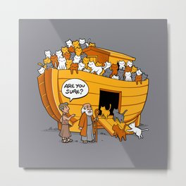 Noah's Ark Cat Metal Print