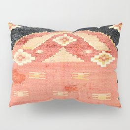 South West Anatolia  Antique Turkish Niche Kilim Print Pillow Sham