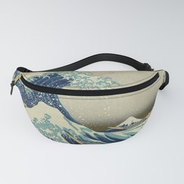 The Classic Japanese Great Wave off Kanagawa Print by Hokusai Fanny Pack