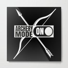 Archery Mode On Archer Metal Print