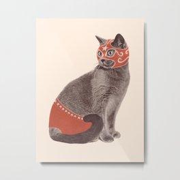 Cat Wrestler Metal Print
