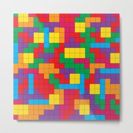 Tetris Attack Metal Print