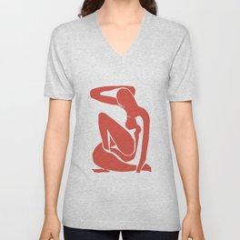 My Matisse Pomegranate Unisex V-Neck