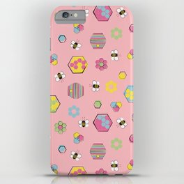 Honey Bees Life Pattern iPhone Case