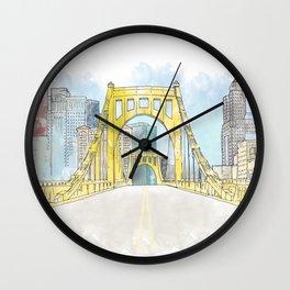 Roberto Clemente Bridge Wall Clock