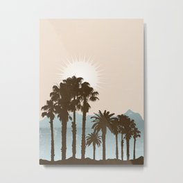 Summer Palm Trees II Metal Print