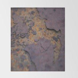 Rust on Rust rustic decor Throw Blanket