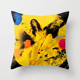 The Moon Melody  Throw Pillow