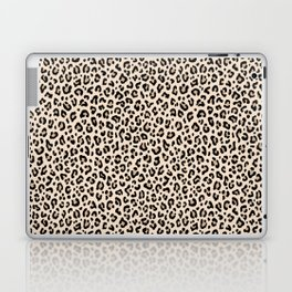 BLACK and WHITE LEOPARD PRINT – Ecru | Collection : Leopard spots – Punk Rock Animal Prints. Laptop & iPad Skin