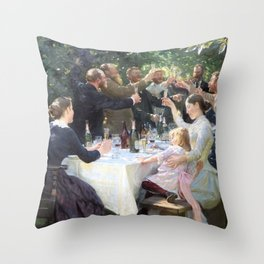 Hurray, Artist Party At Skagen - Digital Remastered Edition Throw Pillow