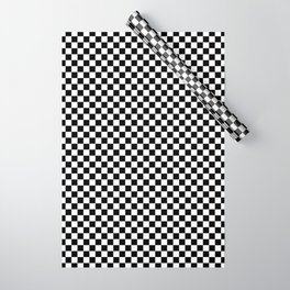 Black And White Checks Minimalist Wrapping Paper