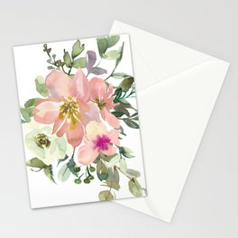 Pink Floral Bouquet Stationery Cards