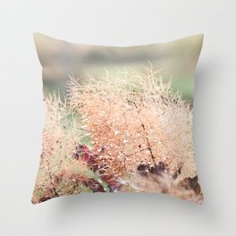 Frothy Blossom Throw Pillow