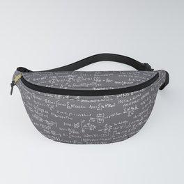 Math Equations // Charcoal Fanny Pack