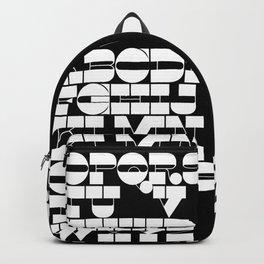 Alphabet Black & White Backpack