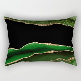 Emerald Marble Glamour Landscapes Rectangular Pillow