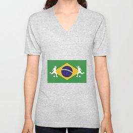 Brazilian football player fag design Unisex V-Neck