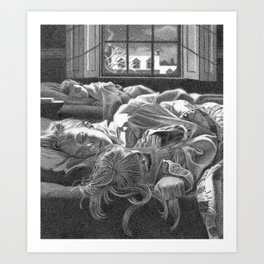 All snug in their beds... Art Print