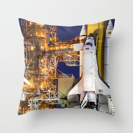 Discovery Space Shuttle Launch Throw Pillow