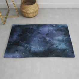 Beautiful Navy and Silver Design Patterns Rug