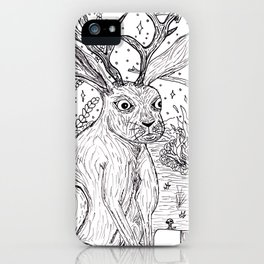 Drunk Jackalope iPhone Case