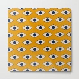 Third Eye Pattern Metal Print