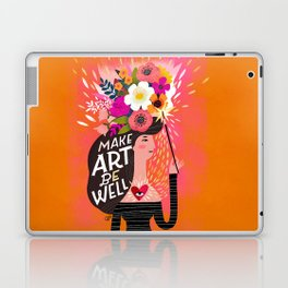 Work From Home Happys- Make Art Be Well Laptop & iPad Skin