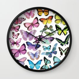 Butterfly Rainbow Wall Clock