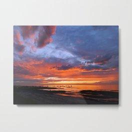 Stunning Seaside Sunset Metal Print