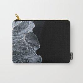 Waves on a black sand beach in iceland - minimalist Landscape Photography Tasche