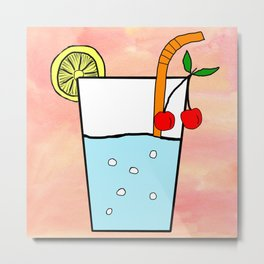 Cool Drink Summer Painting Metal Print