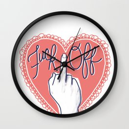 Fuck Off (with Love) Wall Clock