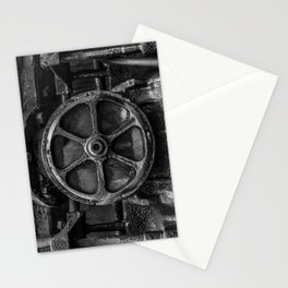 Trivial Pursuits Steam Train Detail Abstract Vintage Railroad Photography Black and White Stationery Cards